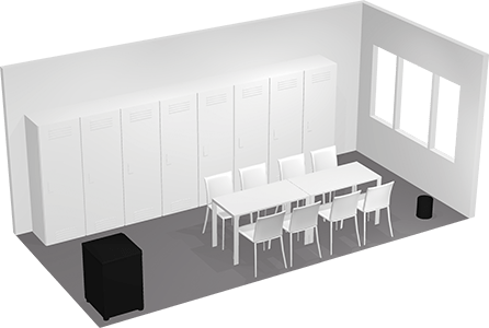 Conference room for ten people 3D view