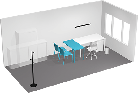 Offices for one person 3D view